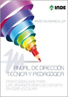 Portada de Manual De Direccion Tecnica Y Pedagogica