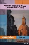 Portada de Administrativos Diputacion General De Aragon: Temario 1