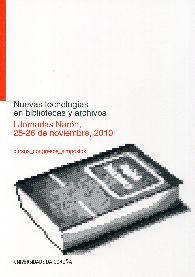 Portada de Nuevas Tecnologias En Bibliotecas Y Archivos