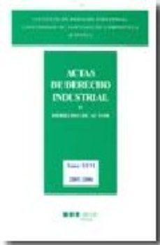 Portada de Actas De Derecho Industrial: 26 Y Derecho Industrial