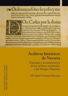 Portada de Archivos Historicos De Navarra