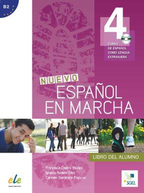 Portada de Nuevo Español En Marcha 4. Libro Del Alumno Curso De Español Como Lengua Extranjera. B2. + Cd