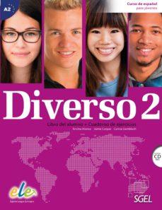 Portada de Diverso 2 Alumno + Ejercicio + Cd   Ed 2015