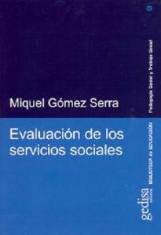 Portada de Evaluacion De Los Servicios Sociales