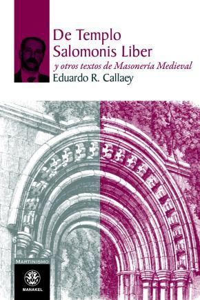 Portada de De Templo Salomonis Liber Y Otros Textos De Masoneria Medieval