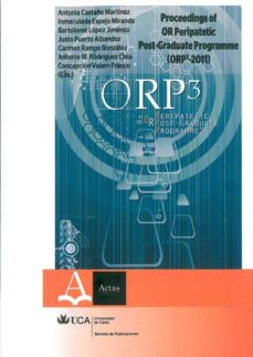 Portada de Proceedings Of Or Peripatetic Post-gradute Programme (orp3-2011)