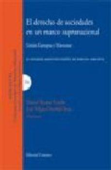 Portada de Derecho De Sociedades En Un Marco Supranacional: Union Europea Y Mercosur