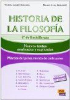 Portada de Historia Filosofia (2010 )(2ª Bachillerato): Textos Explicados