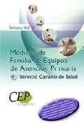 Portada de Oposiciones Medicos De Familia De Equipos De Atencion Primaria Se Rvicio Canario De Salud. Temario Vol. V