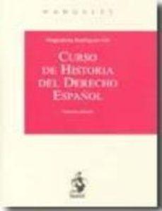 Portada de Curso De Historia Del Derecho Español