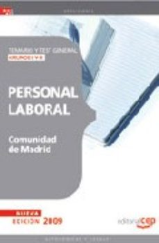 Portada de Personal Laboral Comunidad De Madrid. Temario Y Test General Grup Os I Y Ii