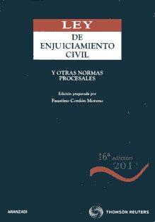 Portada de Ley De Enjuiciamiento Civil Y Otras Normas Procesales (16ª Ed.)