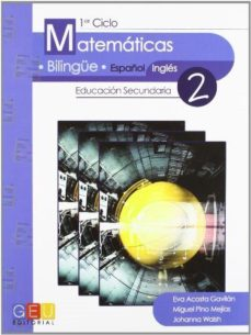 Portada de Matematicas. Bilingue Español-ingles 1º Ciclo. Educacion Secundar Ia