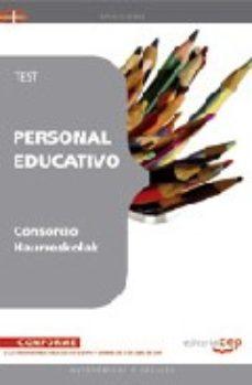 Portada de Personal Educativo Del Consorcio Haurreskolak: Test