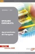 Portada de Operario Especialista Ayuntamiento De Zaragoza: Temario Y Test