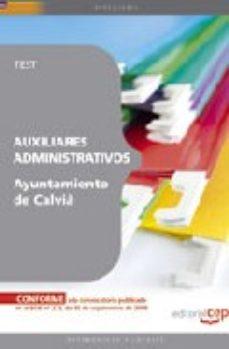 Portada de Auxiliar Administrativo Del Ayuntamiento De Calvia. Test