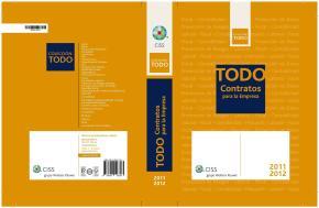 Portada de Todo Contratos  Para Empresa  2011-2012