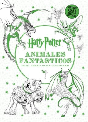 Portada de Harry Potter-animales Fantasticos Mini Libro Para Colorear