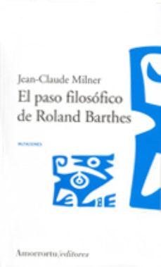 Portada de El Paso Filosofico De Roland Barthes