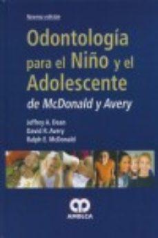 Portada de Odontologia Para El Niño Y Adolescente De Mcdonald Y Avery