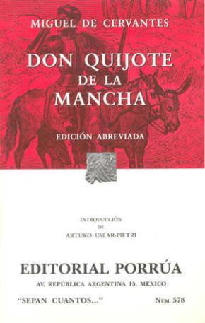 Portada de Don Quijote De La Mancha (ed. Abreviada)