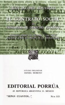 Portada de El Contrato Social O Principios De Derecho Politico